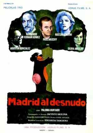Madrid al desnudo - Spanish Movie Poster (thumbnail)