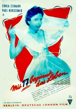 Mit siebzehn beginnt das Leben - German Movie Poster (thumbnail)