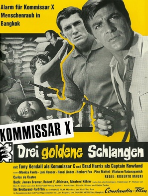 Kommissar X - Drei goldene Schlangen - German Movie Poster (thumbnail)