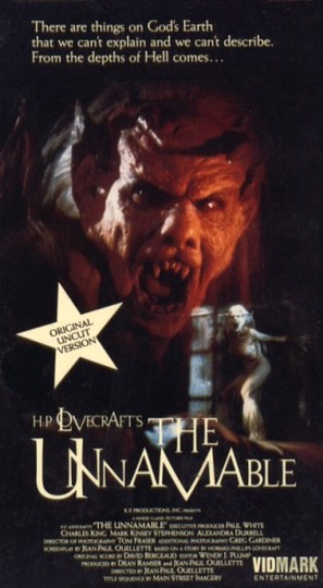 The Unnamable - VHS cover (thumbnail)