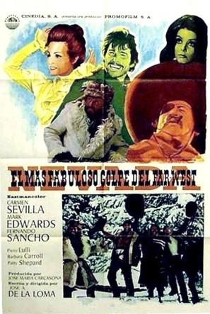 El más fabuloso golpe del Far-West - Spanish Movie Poster (thumbnail)