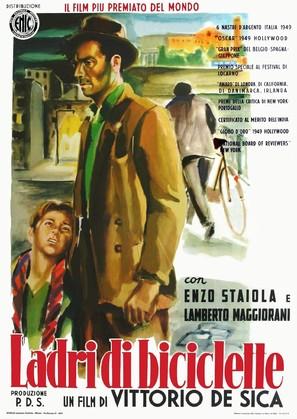 Ladri di biciclette - Italian Movie Poster (thumbnail)