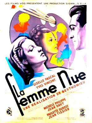 La femme nue - French Movie Poster (thumbnail)