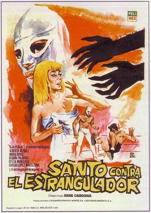 Santo vs el estrangulador - Mexican Movie Poster (thumbnail)