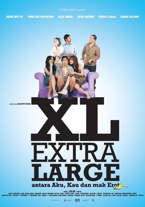 Extra large, antara aku, kau dan Mak Erot - Indonesian Movie Poster (thumbnail)