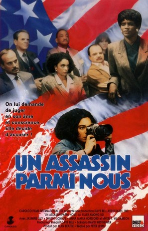 A Killer Among Us - French VHS movie cover (thumbnail)