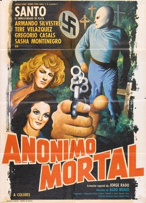 Santo en Anónimo mortal - Mexican Movie Poster (thumbnail)