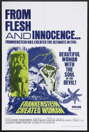 Frankenstein Created Woman - Movie Poster (thumbnail)