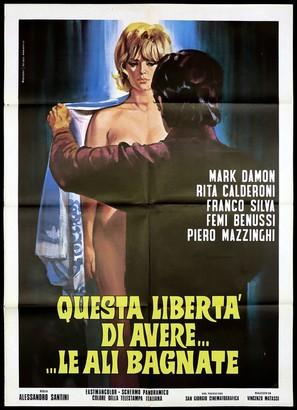 Questa libertà di avere... le ali bagnate - Italian Movie Poster (thumbnail)