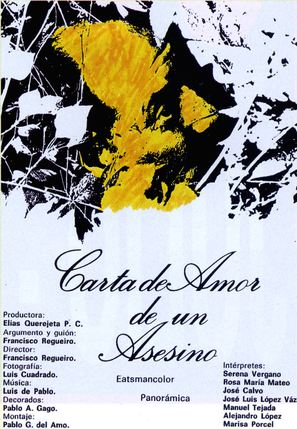 Carta de amor de un asesino - Spanish Movie Poster (thumbnail)