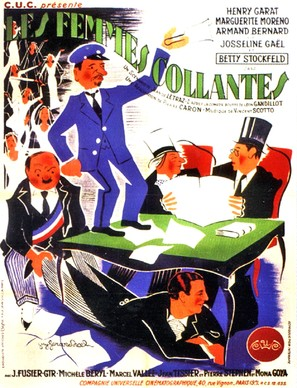 Les femmes collantes - French Movie Poster (thumbnail)