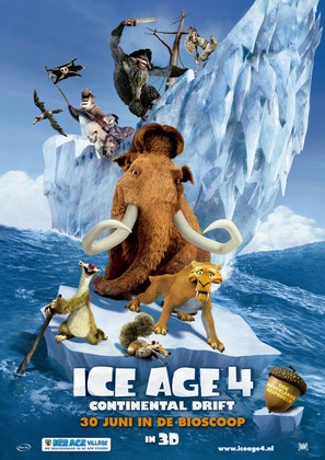 Ice Age: Continental Drift - Dutch Theatrical movie poster (thumbnail)