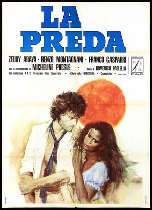 La preda - Italian Movie Poster (thumbnail)