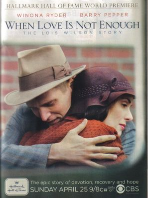 When Love Is Not Enough: The Lois Wilson Story - Movie Poster (thumbnail)