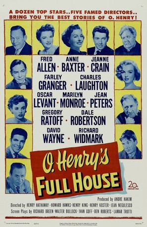 O. Henry's Full House - Theatrical poster (thumbnail)