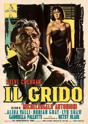 Il Grido - Italian Movie Poster (thumbnail)