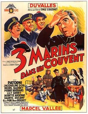 Trois marins dans un couvent - French Movie Poster (thumbnail)