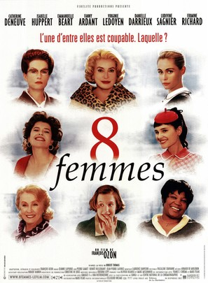 8 femmes - French Movie Poster (thumbnail)