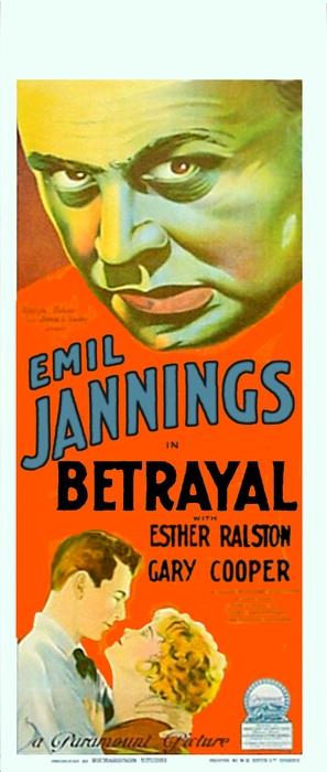 Betrayal - Theatrical movie poster (thumbnail)