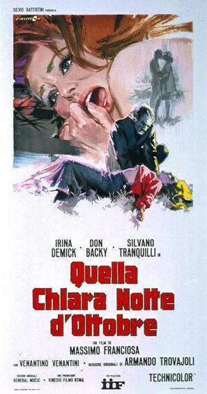 Quella chiara notte d'ottobre - Italian Movie Poster (thumbnail)