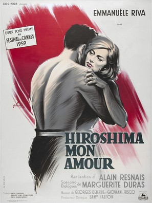Hiroshima mon amour - French Movie Poster (thumbnail)