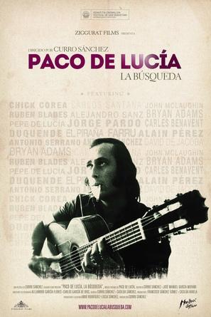 Paco de Lucía: la búsqueda - Spanish Movie Poster (thumbnail)