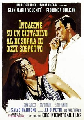 Indagine su un cittadino al di sopra di ogni sospetto - Italian Movie Poster (thumbnail)