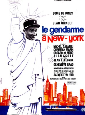 Le gendarme à New York - French Movie Poster (thumbnail)