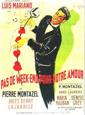 Pas de week-end pour notre amour - French Movie Poster (thumbnail)