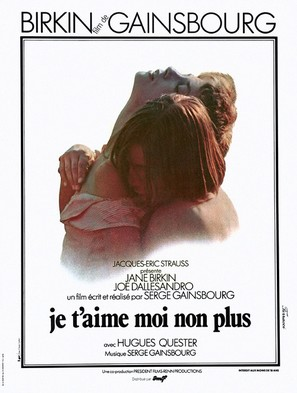 Je t'aime moi non plus - French Movie Poster (thumbnail)