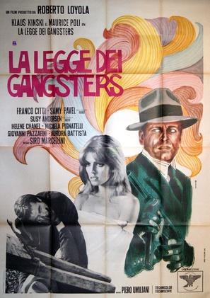 La legge dei gangsters - Italian Movie Poster (thumbnail)