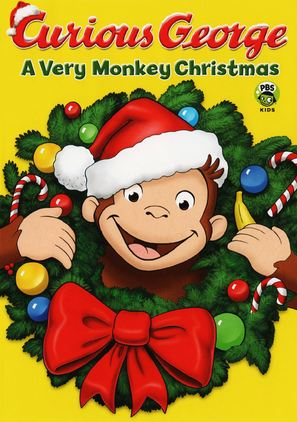 Curious George: A Very Monkey Christmas - DVD cover (thumbnail)