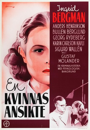 Kvinnas ansikte, En - Swedish Movie Poster (thumbnail)
