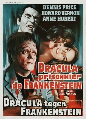 Drácula contra Frankenstein - Belgian Movie Poster (thumbnail)