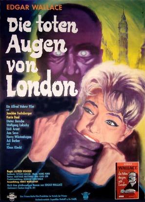 Die toten Augen von London - German Movie Poster (thumbnail)