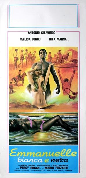Emmanuelle bianca e nera - Italian Movie Poster (thumbnail)