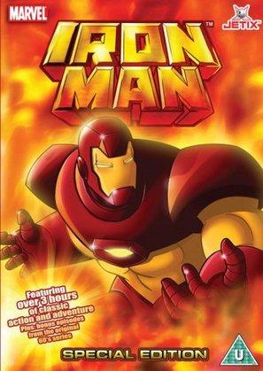 """Iron Man"" - British DVD movie cover (thumbnail)"