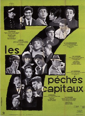 Les sept péchés capitaux - French Movie Poster (thumbnail)
