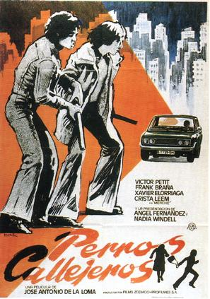 Perros callejeros - Spanish Movie Poster (thumbnail)