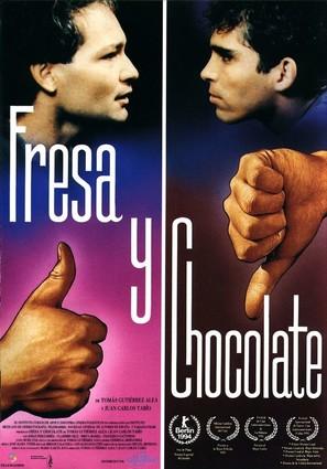 Fresa y chocolate - Spanish Movie Poster (thumbnail)