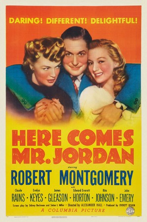 Here Comes Mr. Jordan - Theatrical poster (thumbnail)