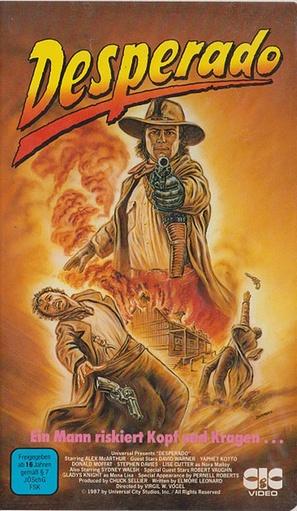Desperado - German VHS movie cover (thumbnail)