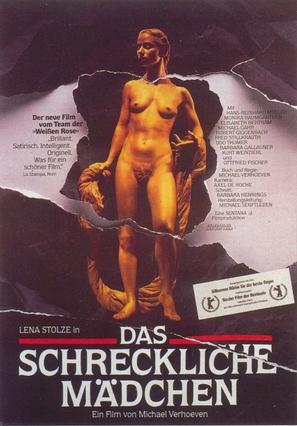 Das schreckliche Mädchen - German Movie Poster (thumbnail)