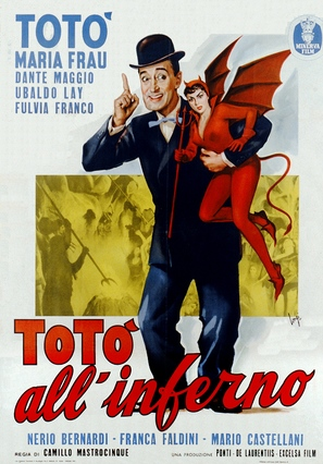 Totò all'inferno - Italian Movie Poster (thumbnail)