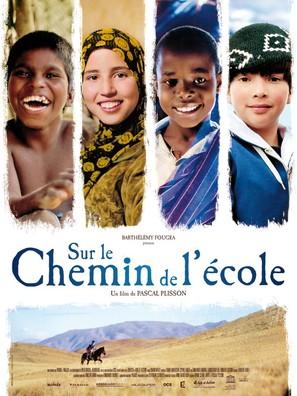 Sur le chemin de l'école - French Movie Poster (thumbnail)