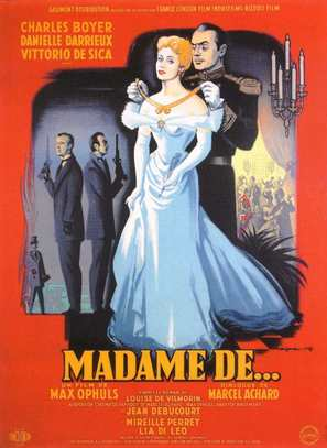 Madame de... - French Movie Poster (thumbnail)