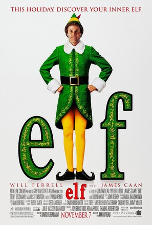 Elf - Theatrical movie poster (thumbnail)