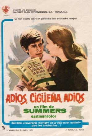 Adiós, cigüeña, adiós - Spanish Movie Poster (thumbnail)