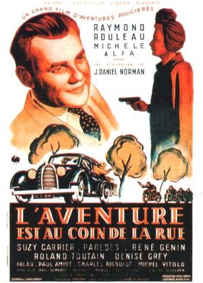 L'aventure est au coin de la rue - French Movie Poster (thumbnail)