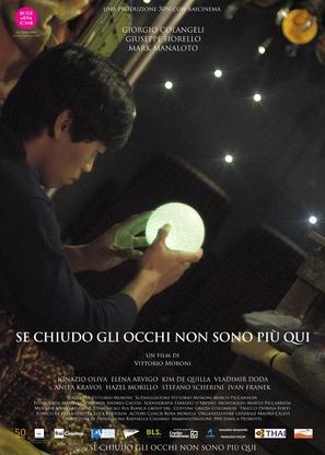 Se chiudo gli occhi non sono più qui - Italian Movie Poster (thumbnail)